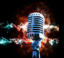 Vintage microphone by carloscastilla