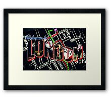 Welcome To London - Sherlock Version #1 Framed Print