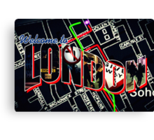 Welcome To London - Sherlock Version #1 Canvas Print