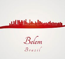 Belem skyline in red by Pablo Romero