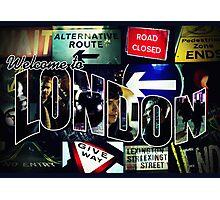 Welcome To London - Sherlock Version #3 Photographic Print