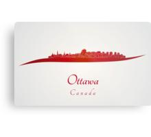 Ottawa skyline in red Metal Print