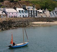Boat Leaving Portpatrick by John Messingham