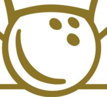Bowling king crown Sticker