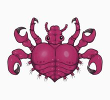 Crab Louse Heart by bogleech