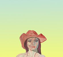 Red hat girl in yellow by precisionts