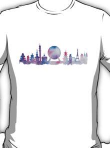 Disney Epcot Skyline Watercolour T-Shirt