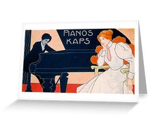 Advertisement for Kaps Pianos Greeting Card
