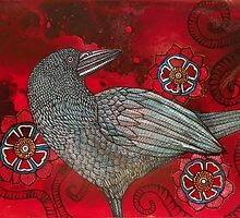 Red Sky and Crow by Lynnette Shelley
