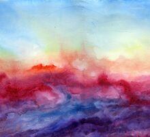 Arpeggi - Abstract Watercolor Ombre by Jacqueline Maldonado