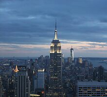 The Empire State Building at dusk by Sam Morgan