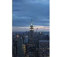 The Empire State Building at dusk Photographic Print
