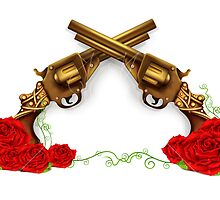 Gun With Roses by Kireeva