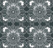 lace Decorative Floral Ornamental Pattern by Kireeva