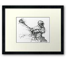 Lacrosse In Motion Framed Print