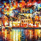 THE SHORES OF SPAIN by Leonid  Afremov
