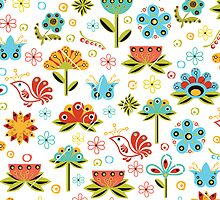 Flower Fabric by Kireeva