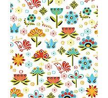 Flower Fabric Photographic Print