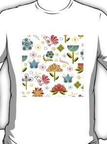 Flower Fabric T-Shirt