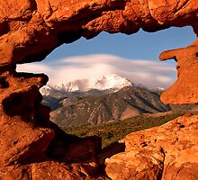 Framing of Pikes Peak by RondaKimbrow