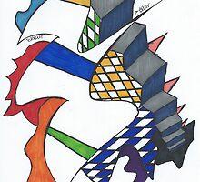 Stairs Where The Rubix Cube Threw Up by Blair Chranowski