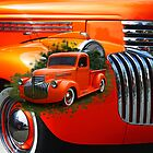 Orange Ford Pick-up Custom by rharrisphotos