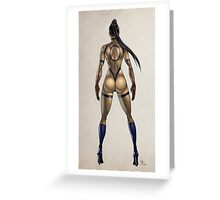 ninja woman Greeting Card