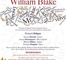 HOMMAGE A WILLIAM BLAKE -   CONCERT NERAC FRANCE 2014 by Andre  Furlan