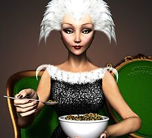 Strictly vegetarian - the bird woman by Britta Glodde