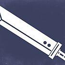 Buster Sword - Minimalist  by thehookshot