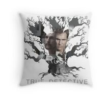 Rust Cohle tree from True Detective, HBO Throw Pillow