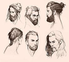 Manly men wear beard by kasiaslupecka