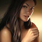 Pretty girl portrait by kasiaslupecka