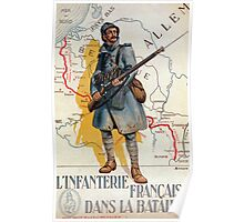 The French Infantry in the Battle Poster