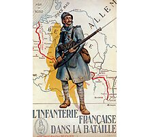The French Infantry in the Battle Photographic Print