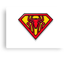 Super Spiderman Logo Canvas Print