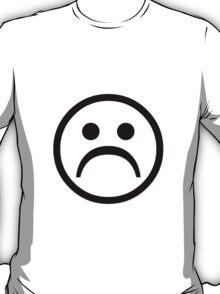 Sad Boy Face [Black] T-Shirt