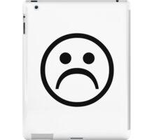 Sad Boy Face [Black] iPad Case/Skin