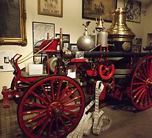 Classic Fire Engine, Horse-Drawn Steam Engine, Circa 1901, New York City Fire Museum, New York City by lenspiro
