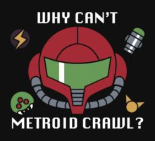 Why can't Metroid crawl? by davidjonesart