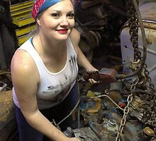 Installing an engine with Rachel  by GWGantt