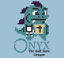 8-bit Onyx with text by davidjonesart