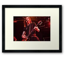 Myles Kennedy of Alter Bridge - Sydney, Feb 2104 Framed Print