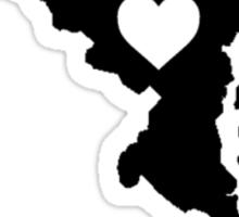 Maryland <3 Sticker