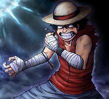 One Piece Movie 6- Luffy by Deer-Head-Xiris