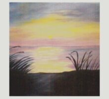 sunset oil painting by librapat