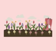Holiday background with colorful flowers Kids Clothes