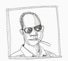 Hunter S Thompson line by Jamifin
