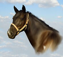 Horse Head Study by WildestArt