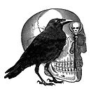 Raven Skull & Skeleton Key by Zehda